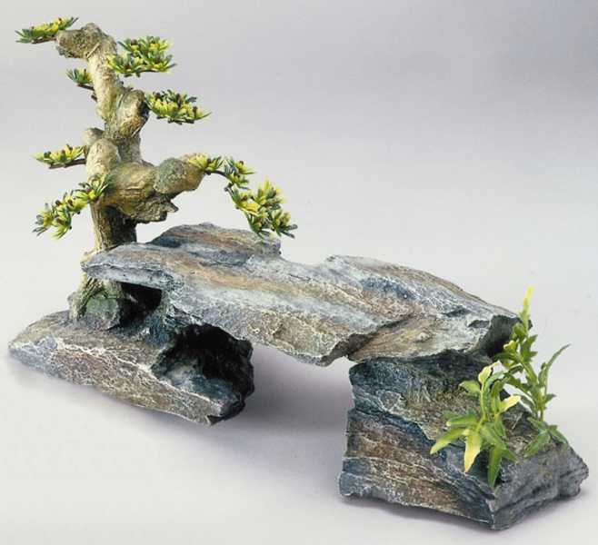 Decor-Stein GR. Bonsai, Polyrin, ca 34 x 15.5 x 21 cm)