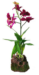 Kunststoffpflanze Orchidee lila, ca 35cm (IF-14)(Noch 1 Stk an Lager)