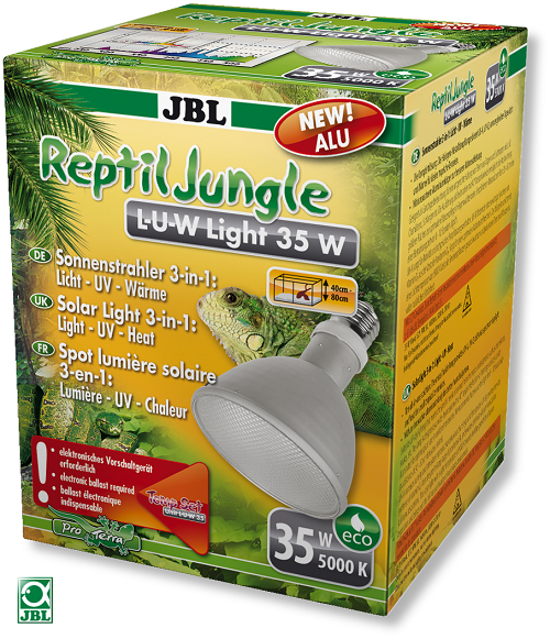 JBL Alu UV Metalldampflampe Reptile Jungle L-U-W Light Alu (35 w, E27)