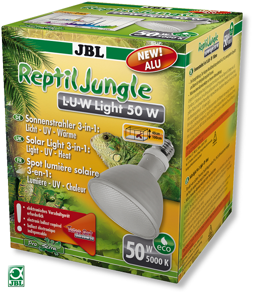 JBL Alu UV Metalldampflampe Reptile Jungle L-U-W Light Alu (50 w, E27)